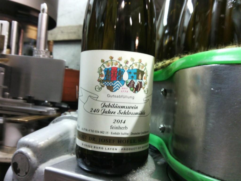 Jubiläumswein 240Jahre Schlossmühle