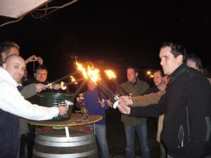 Fackelwanderung Weinberge Weingut Höfer